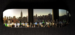 Manhattan through bottles