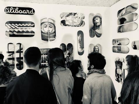 Expo Loft'Art Bayonne liliboard skateart deco skateboard design