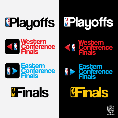 NBA Playoffs Logo Concept Package