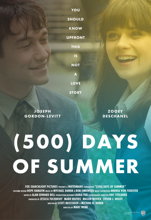 (500) Days of Summer Poster Concept