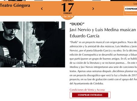 """Concierto presentación CD """"Dudú""""."""