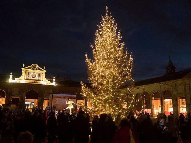 L'albero di Natale e i frontoni restaura