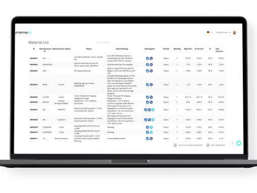 Neue Webfunktion - Materialverwaltung ⚒️