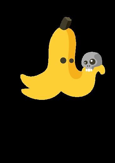 Logo design for a preschool drama class. Banana holding a skull. Alas poor Yorick