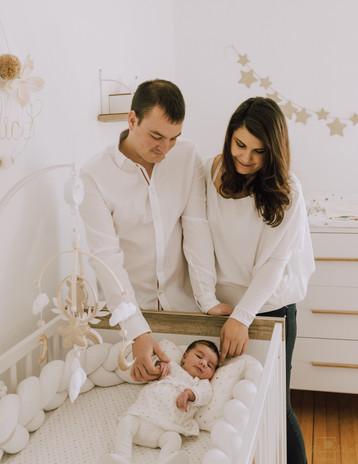 En famille avec son enfant