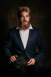 Portrait studio homme Fine art