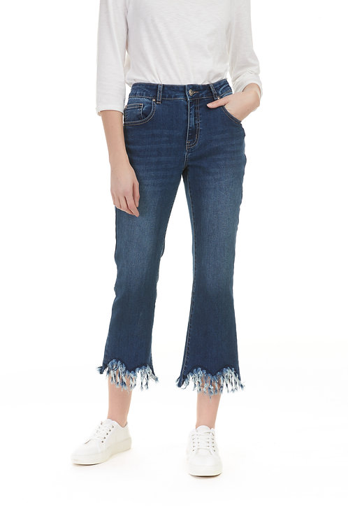 Jeans with frill bottom