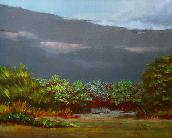 ''7;48 PM'' oil on canvas 16''x20''/41x51cm.