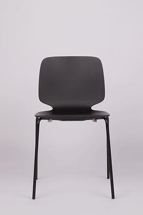 BABILA dining chair w. steel legs