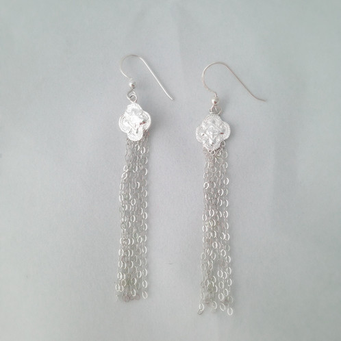 These Unique Tel Chain Earrings Will Suit Every Occasion Featuring A Fine Silver Shield Design With Sterling Chains And Handcrafted Shepherds
