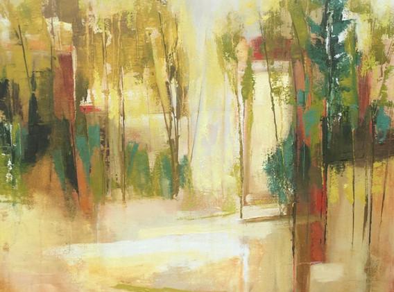 "Autumn Pond Reflection   24x24"""