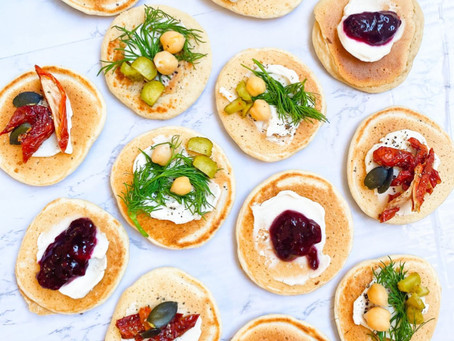 Russian Blini's and Olivier Salad