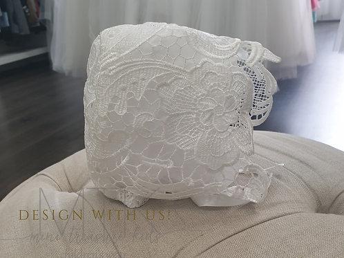 Lace hand made bonnet