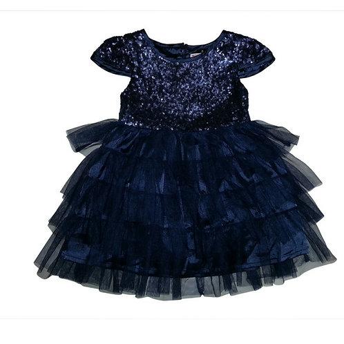 Isa sequins dress-Navy