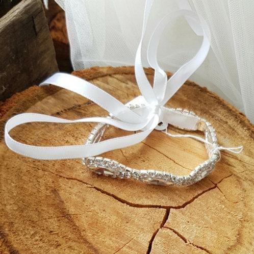 Diamonte Bracelets with ribbon