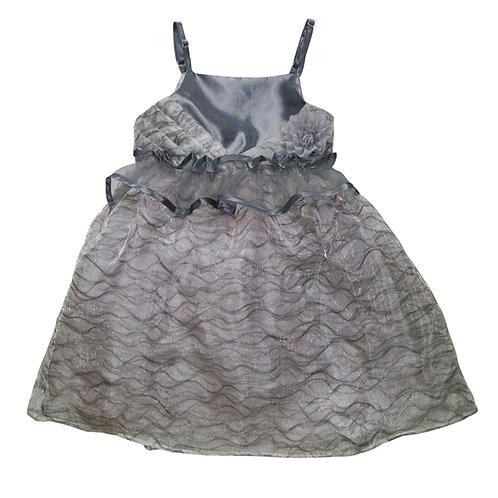 Ava Flower Dress - Grey