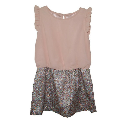 Lia Dress w/Sequin Skirt