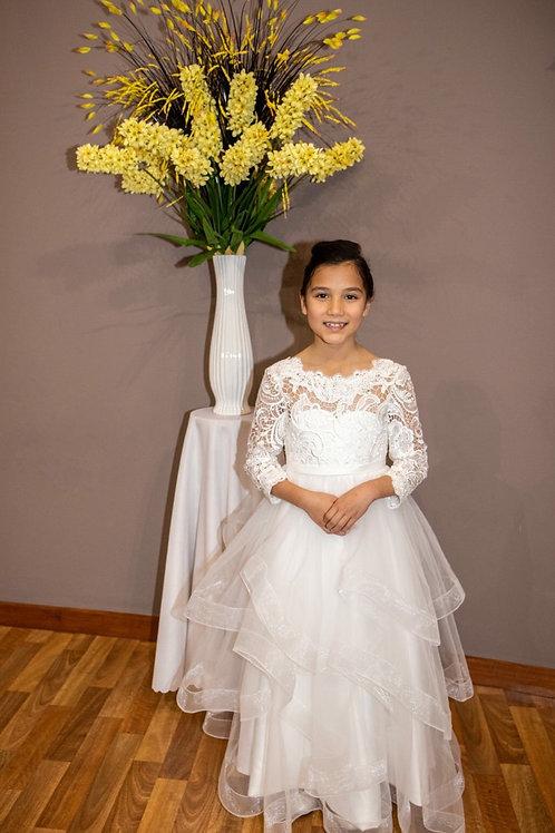Custom made Poppy Dress - Communion, Flower Girl, Christening