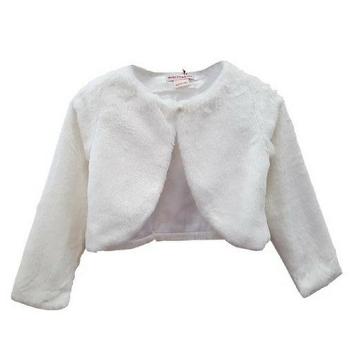 Plain Fur Jacket- Off white