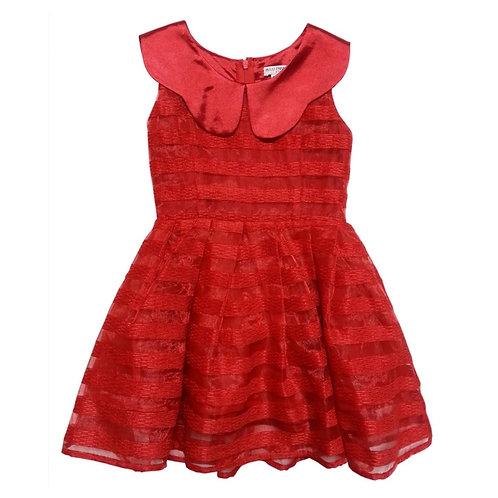 Stripe dress- Red