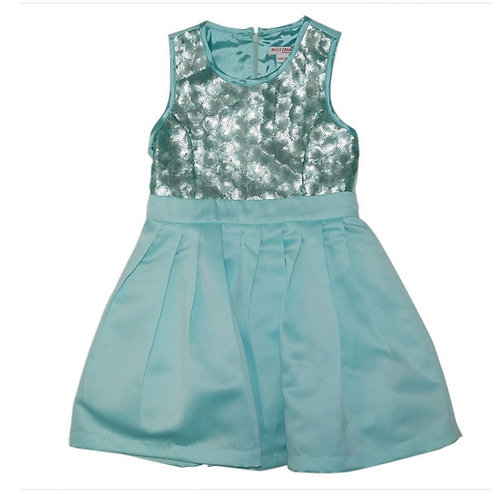 Cayla sequins dress-Turquoise
