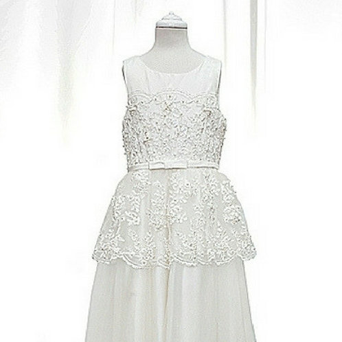 Peplum flower girl/communion dress