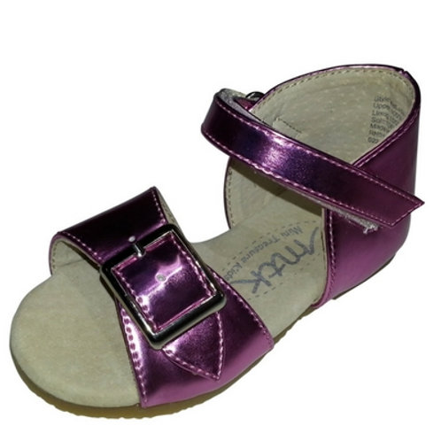 Melissa Metallic buckle sandal-Purple