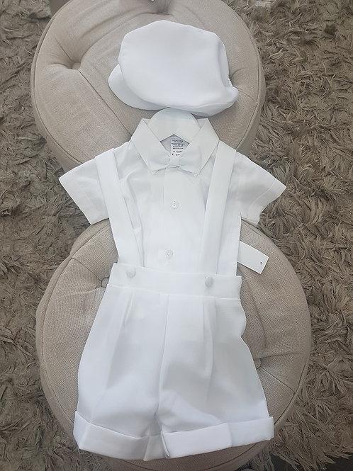White 5 piece Boys cotton short sleeveset