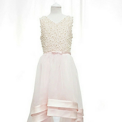 Lexi confirmation dress with hand sewn pearls