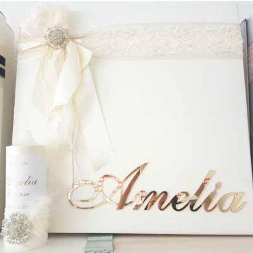 Personalized Storage Box & Candle-Amelia