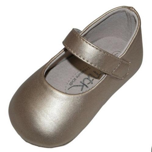 Sandy Mary Jane baby shoe- Gold