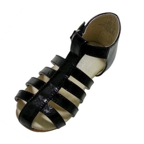 Leah roman sandals -Black
