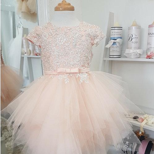 Custom made Sammon Abby Flower Girl Dress - Birthday Wedding, Flower girl