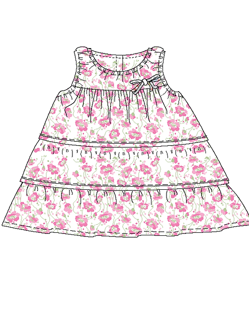 Australian handmade Cotton Baby Girl Cotton Dress