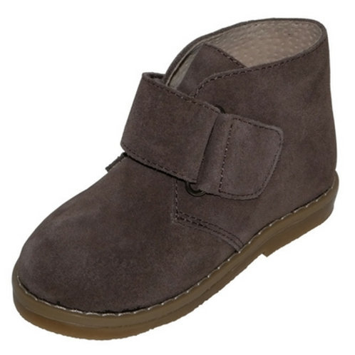 Luca boots with Velcro strap-Brown