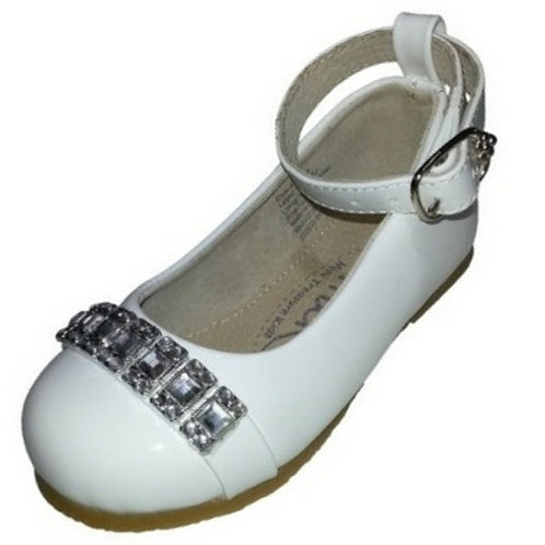 Antonia with ankle strap-white
