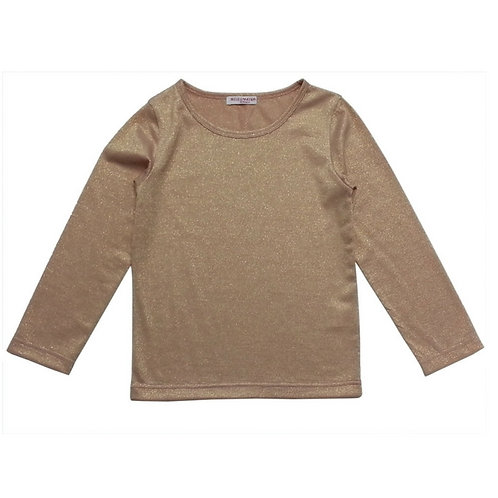 Shimmer plain top-Nude