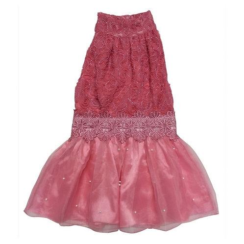 Lace dress-Fuscia