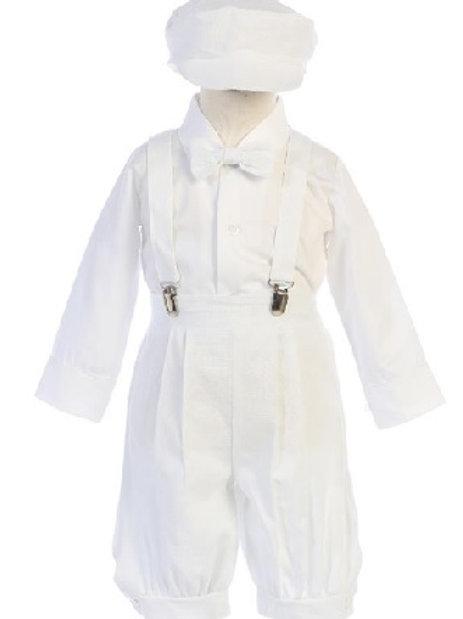 White 5 piece Boys rayon linen set