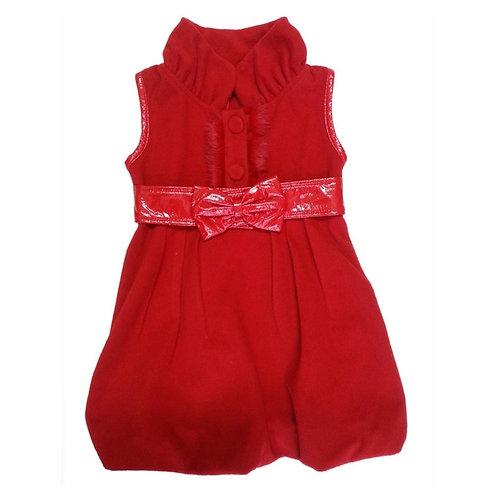 Mila balloon dress-Red