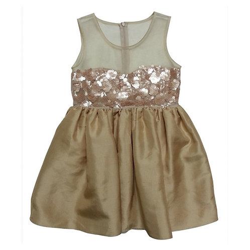 Isabella sweet Georgette dress -Gold