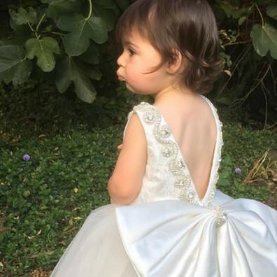 Custom made flower girl dress