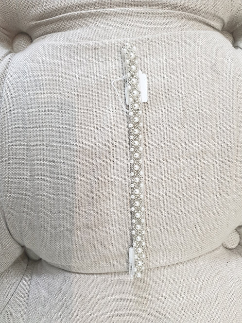 Custom made baby pearl headband