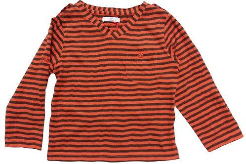 Size 2 -Boys LS stripe top