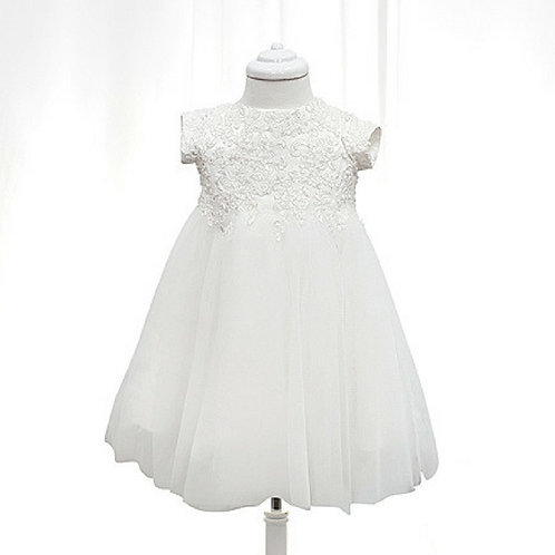Mia Christening dress with ivory lace