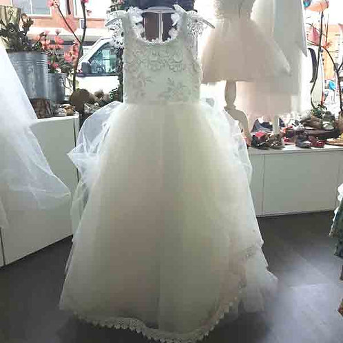 Arianna flower girl/communion dress with lace