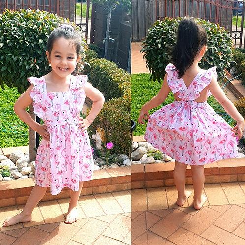Australian handmade  Flutter Pinafore dress