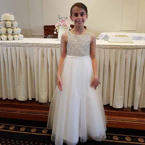 Sienna diamante flower girl/communion dress - Custom made
