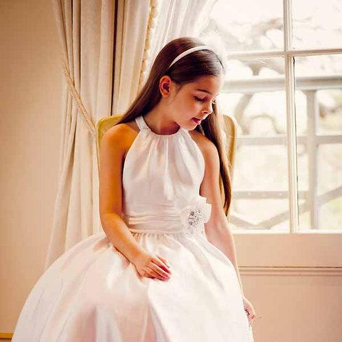 Halter dress with Satin skirt