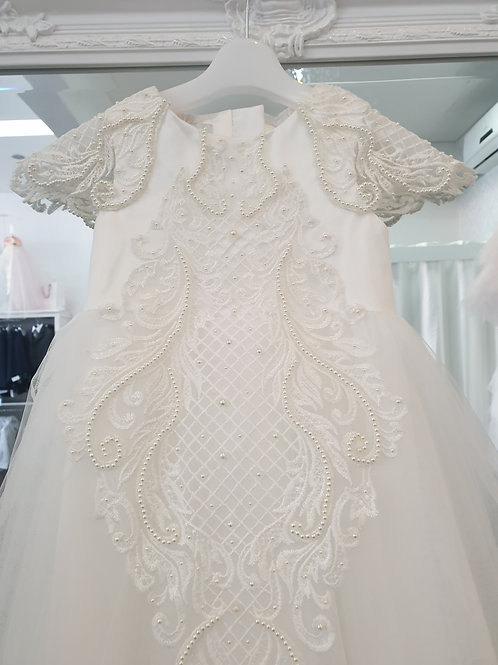 Allira hand beaded lace Christening gown